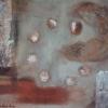 "Oswaldo Santana, 2008, ""Outras Terras II "",  tempera vinyl with natural pigments"